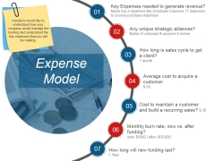 Expense Model Template 2 Ppt PowerPoint Presentation Gallery Infographic Template