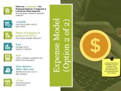 Expense Model Template 2 Ppt PowerPoint Presentation Ideas Graphics Tutorials
