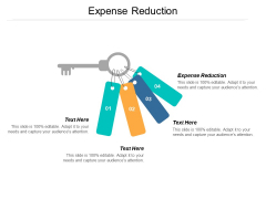 Expense Reduction Ppt PowerPoint Presentation Show File Formats Cpb