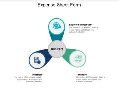 Expense Sheet Form Ppt PowerPoint Presentation Portfolio Cpb