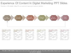 Experience Of Content In Digital Marketing Ppt Slides