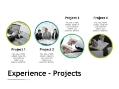 Experience Projects Ppt PowerPoint Presentation Gallery Example Introduction