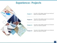 Experience Projects Ppt PowerPoint Presentation Gallery Introduction