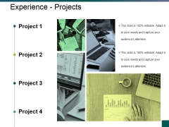 Experience Projects Ppt PowerPoint Presentation Pictures Example