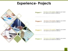 Experience Projects Ppt PowerPoint Presentation Styles Sample
