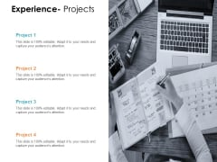 Experience Projects Ppt PowerPoint Presentation Summary Gallery