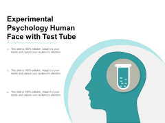Experimental Psychology Human Face With Test Tube Ppt Powerpoint Presentation Styles Layouts