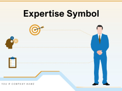 Expertise Symbol Employee Bulb Icon Measurement Ppt PowerPoint Presentation Complete Deck