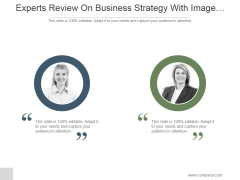 Experts Review On Business Strategy With Image Display Ppt PowerPoint Presentation Topics
