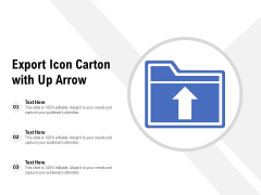 Export Icon Carton With Up Arrow Ppt PowerPoint Presentation File Clipart PDF