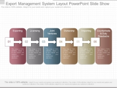Export Management System Layout Powerpoint Slide Show