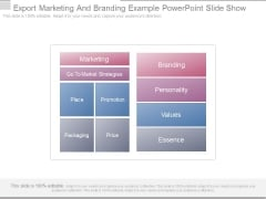 Export Marketing And Branding Example Powerpoint Slide Show