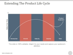 Extending The Product Life Cycle Ppt PowerPoint Presentation Professional