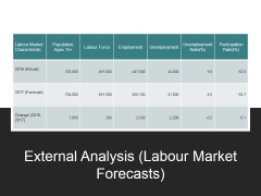External Analysis Labour Market Forecasts Ppt PowerPoint Presentation Ideas Examples