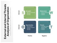 External And Internal Threats Analysis Of Organization Ppt PowerPoint Presentation Model Display PDF