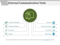 External Communication Tools Ppt PowerPoint Presentation Pictures Guidelines