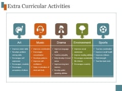 Extra Curricular Activities Template 5 Ppt PowerPoint Presentation Outline
