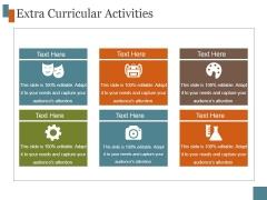 Extra Curricular Activities Template 6 Ppt PowerPoint Presentation Template
