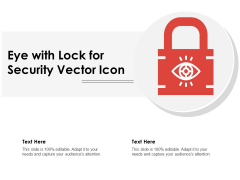 Eye With Lock For Security Vector Icon Ppt PowerPoint Presentation File Good PDF