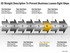 E Business PowerPoint Presentation Losses Eight Steps Flowchart Maker Templates