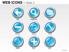 E Mail Web Icons PowerPoint Slides And Ppt Diagram Templates