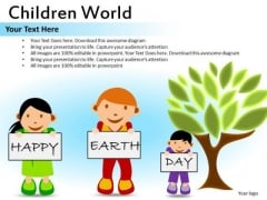 Earth Day Kids PowerPoint Ppt Templates