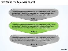 Easy Steps For Achieving Target Business Flowchart Freeware PowerPoint Slides