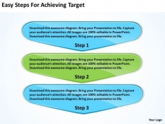 Easy Steps For Achieving Target Business Process Flow Chart Examples PowerPoint Slides