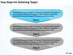 Easy Steps For Achieving Target Flowchart Freeware PowerPoint Slides