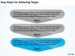 Easy Steps For Achieving Target Po Process Flow Chart PowerPoint Slides