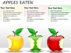 Eating Market Share Business PowerPoint Slides And Apple PowerPoint Images