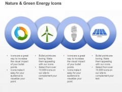 Ecology And Green Energy Icons With Windmill Cfl And Solar Light Ppt Slides Graphics