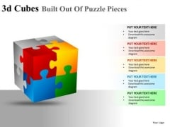 Editable 3d Cube Puzzle Pieces PowerPoint Slides And Ppt Diagram Templates