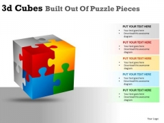 Editable 3d Cube Puzzle PowerPoint Slides And Ppt Diagram Templates