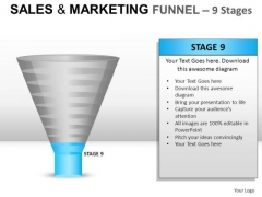 Editable 9 Stage Sales Marketing Funnel PowerPoint Slides And Ppt Diagrams