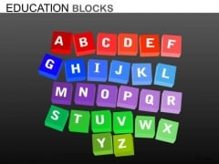Editable A To Z PowerPoint Ppt Templates