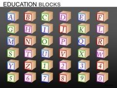 Editable Abc 123 Education Blocks PowerPoint Ppt Slides