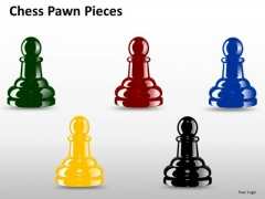 Editable Chess Pawn Pieces PowerPoint Slides And Ppt Diagram Templates