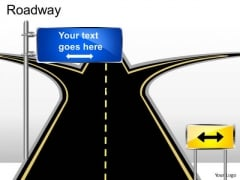 Editable Choices Road Sign PowerPoint Slides And Ppt Diagram Templates