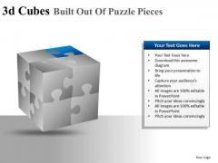 Editable Colors 3d Cube Puzzle PowerPoint Slides And Ppt Diagram Templates