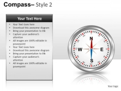 Editable Compass 2 PowerPoint Slides And Ppt Diagram Templates