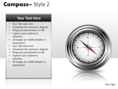 Editable Compass PowerPoint Slides And Clipart Graphics