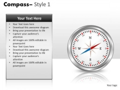 Editable Direction Compass PowerPoint Slides And Ppt Templates
