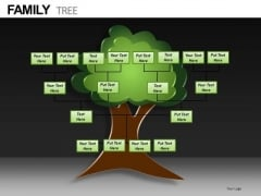 Editable Family Tree PowerPoint Ppt Templates