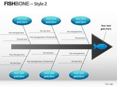 Editable Fishbone Diagram PowerPoint Templates