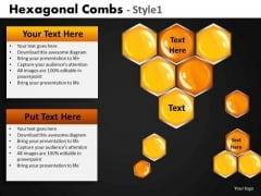 Editable Honey Combs PowerPoint Slides Download
