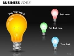 Editable Light Bulbs PowerPoint Templates Download