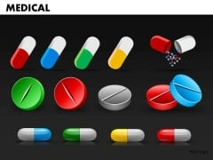 Editable Medical Pills PowerPoint Slides And Medicines Ppt Templates