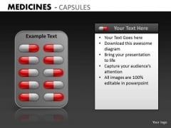 Editable Medicine Capsules Strips PowerPoint Slides