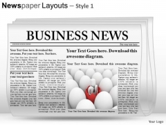 Editable Newspaper Slide Layout PowerPoint Themes